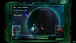 SC2 Mission selection screen.