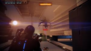 A gunship threatens Shepard.
