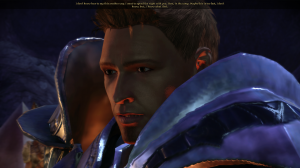 Alistair gives me his sexyface.