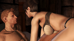 Morrigan seduces Alistair.