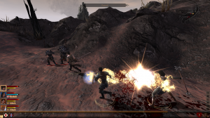 Dragon Age 2 brings back the traditional RPG party combat.  And it looks great doing it.  Look at that fireball!