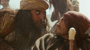 Sheik Amar (Molina) welcomes Dastan (Gyllenhaal) to his hidden business...