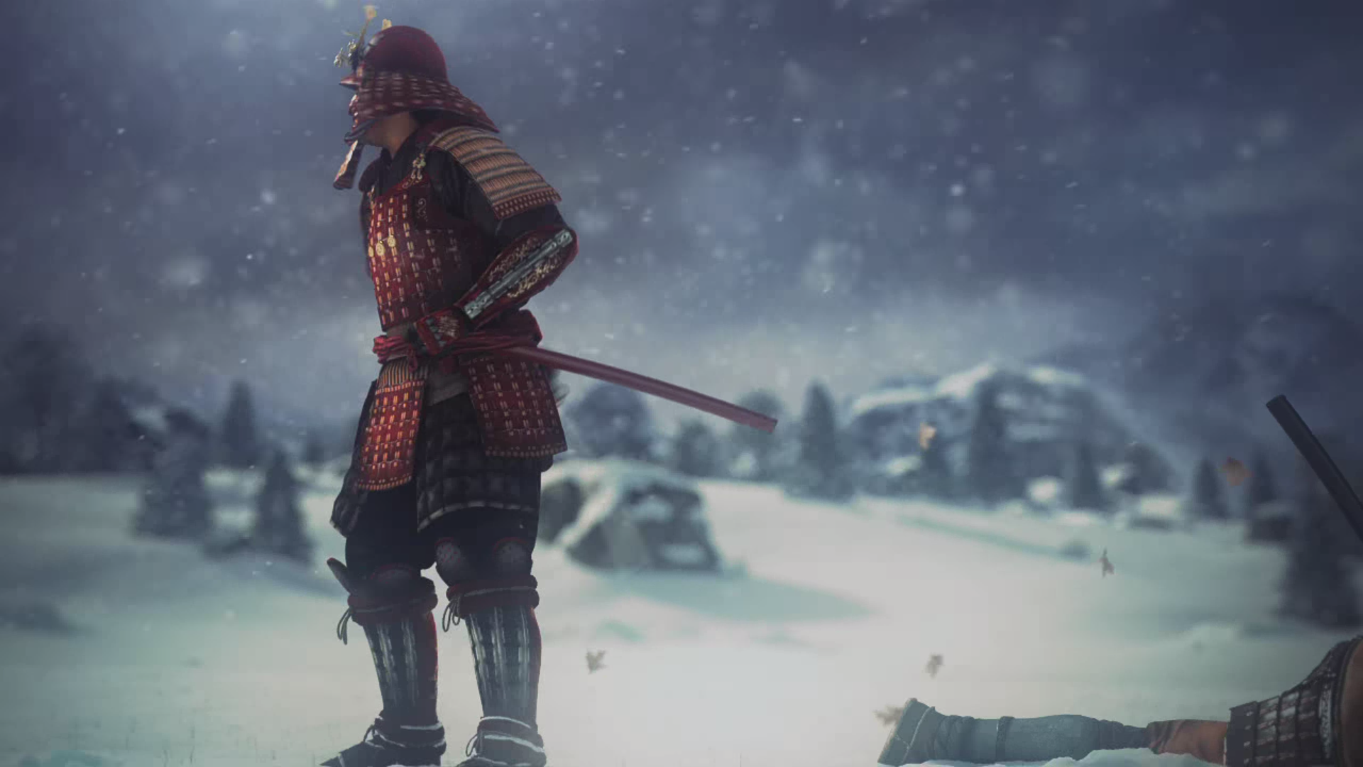 A samurai from Shogun: Total War