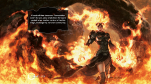 The loading screens offer a bit of information about the planeswalkers. Maybe she likes fire?