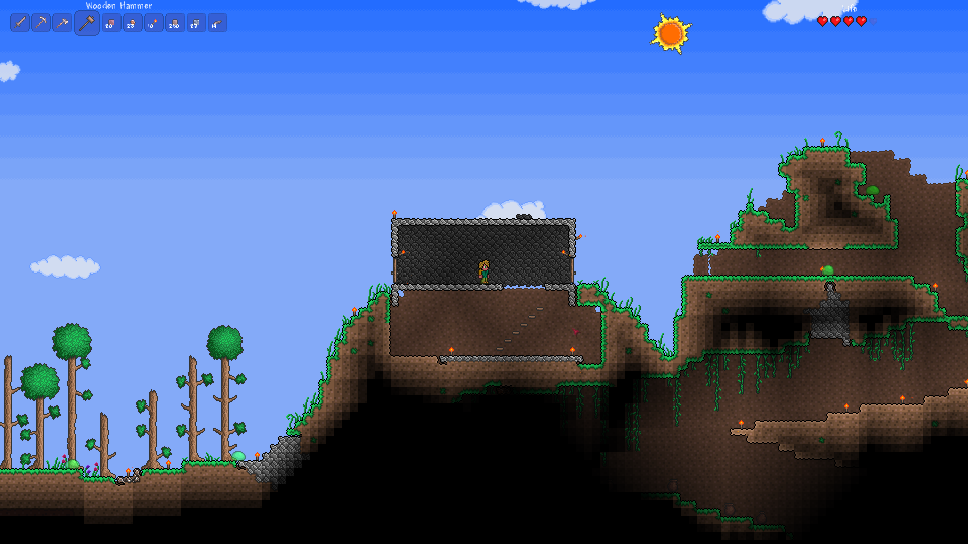 First impressions so i sat down to play terraria for How to build a house in a mountain