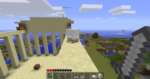 Not even sheep could stop my need to construct some monumental architecture.