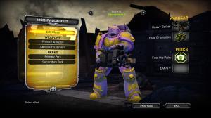 Pink/purple devastator marine, with heavy bolter.