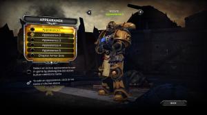 Black/Gold armor.