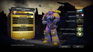 A pink/purple tactical marine.