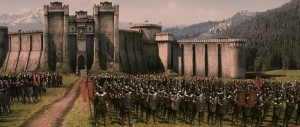 The king's army is a handsome lot. Though not nearly as numerous as Gondor's.