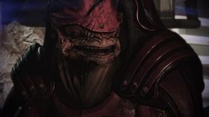 What a handsome battle-toad... I mean Krogan.