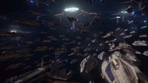 All of the fleets of the sentient races in the galaxy are marshaled together to defeat the Reapers.