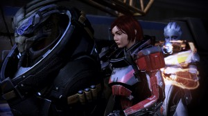 Garrus and Liara are along for the ride.