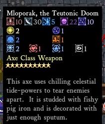 A godly axe.