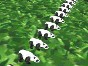 Ah yes, my panda army is complete. Now go, minions!