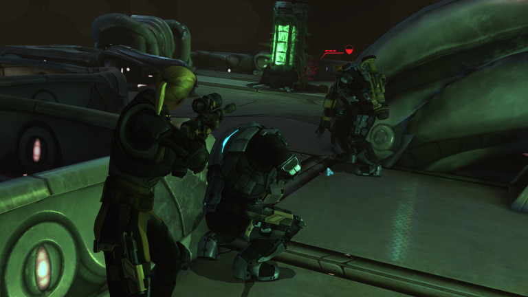 XCOM soldiers assault the alien base.