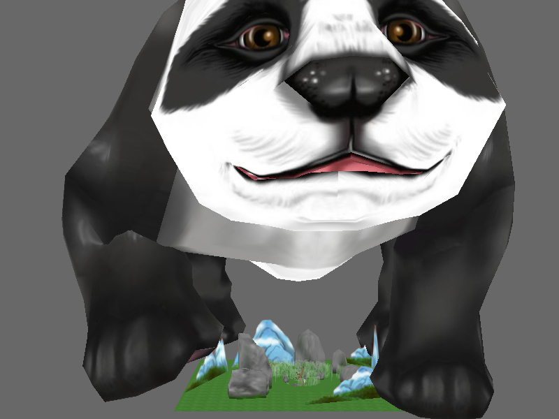 A GIANT giant panda.