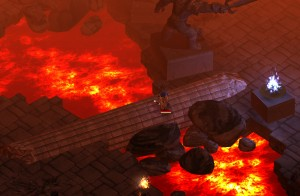 Magicka's environments take from the cliche fantasy playbook, from dungeons to lava caverns.