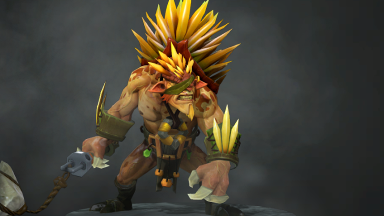 Bristleback, a hedgehog inspired brawling hero from Dota 2.