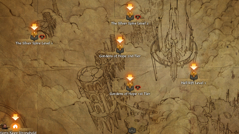 A map of one of Diablo 3's Acts.