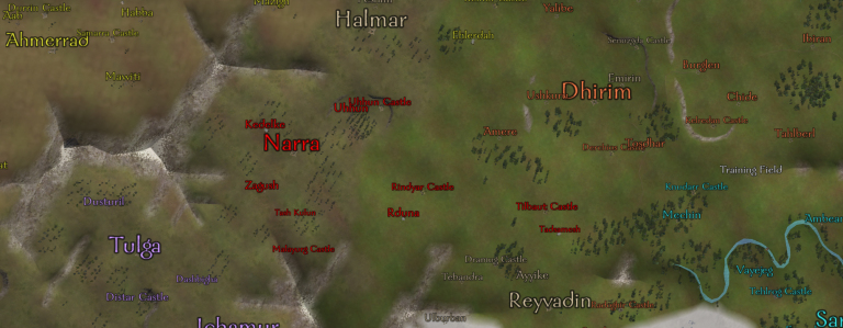 A map of the Queendom of Dawn.
