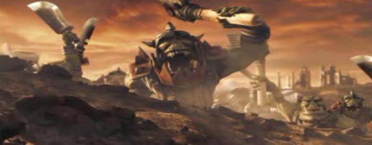 An Ork WAAAAAAAGHS!