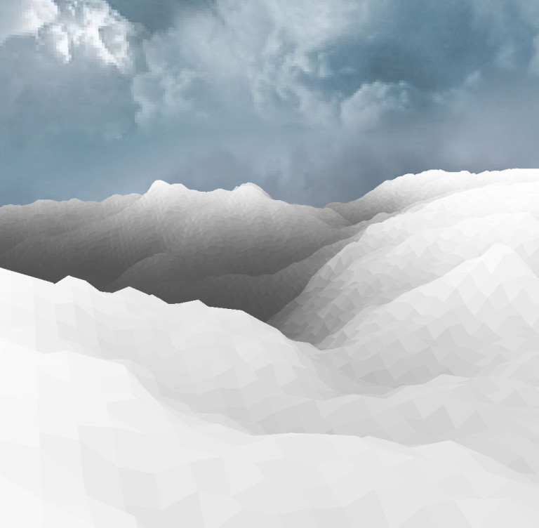 A colorless mountain.
