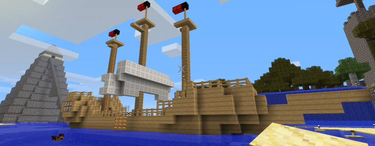 A Minecraft boat.