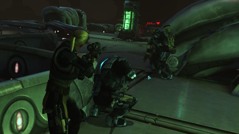 XCOM soldiers assault the alien base.