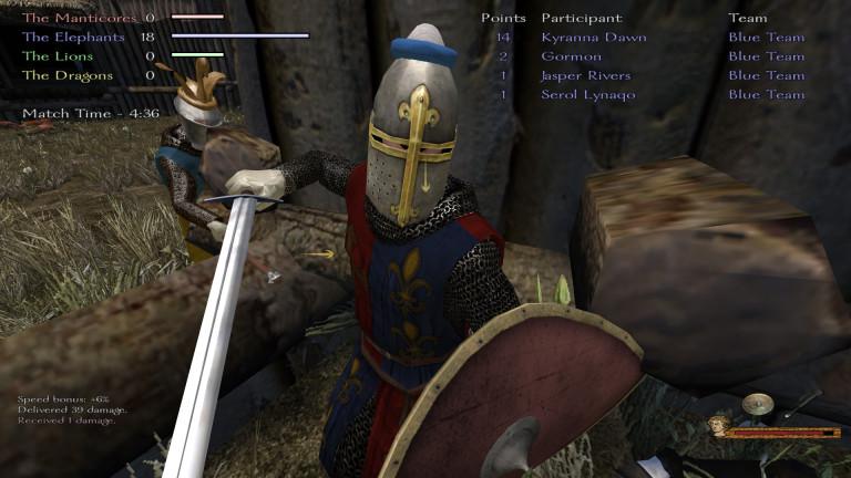 A knight strikes at me!