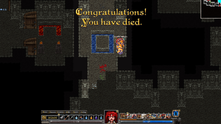 Congratulations! You have died.
