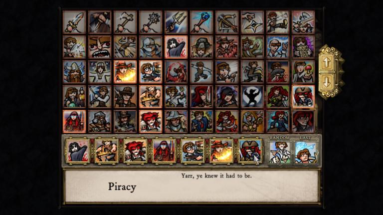 Choosing skills in Dredmor.