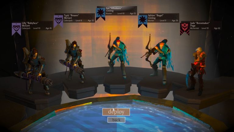 Five heroes prepare to jump into the Chalice... to then jump out and defend the Chalice.