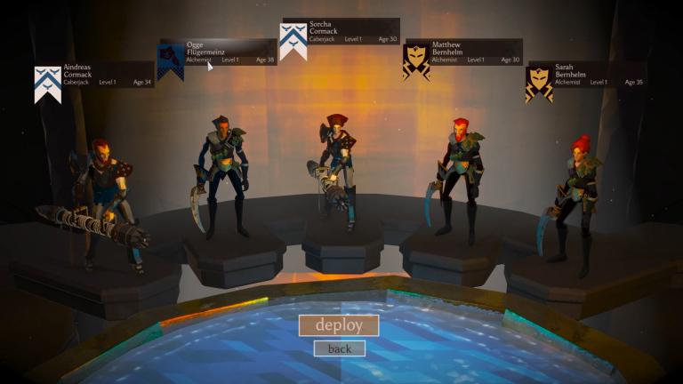 2 Caberjacks / 3 Alchemists prepare to jump into the Chalice.